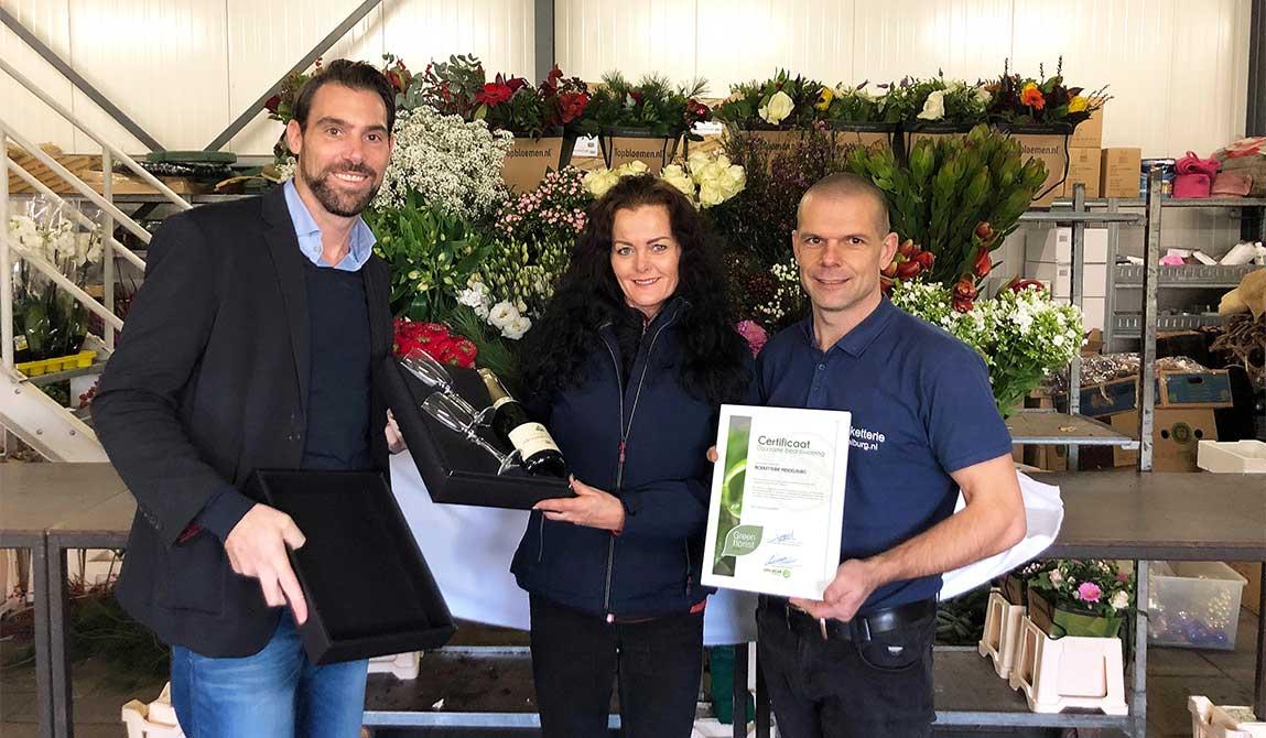 Overhandiging Eerste Green Florist Certificaat